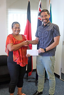DAP Cheque Presentation Pohnpei Swimming Club